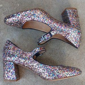 160ab7c0dece Madewell Shoes - MADEWELL Zelda Glitter Mary Jane Heel